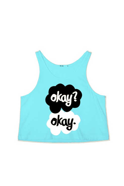 Okay? Okay Crop Tank Top — Kollage