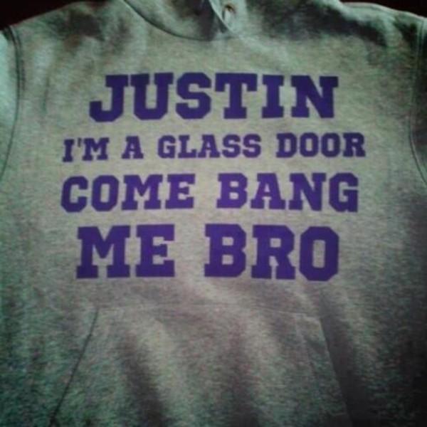 sweater justin glass door purple bang bro justin bieber skreened