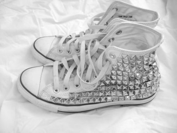 shoes converse studs studded trainers