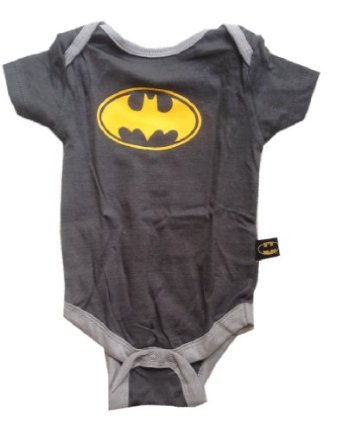 Amazon.com: BATMAN - Logo #3 - Officially Licensed Charcoal Baby Onesie - size 3-6 Months: Clothing