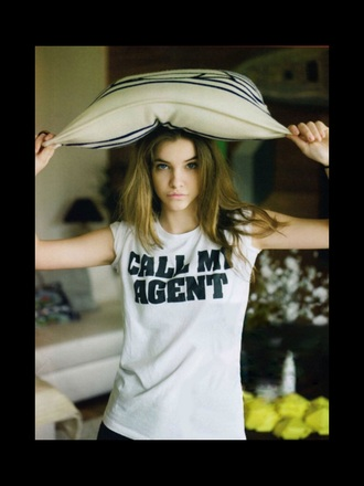 t-shirt barbara palvin victoria's secret model