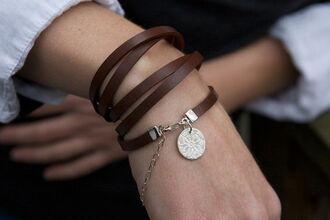 jewels leather bracelet bracelets jewelry leather wrap bracelet