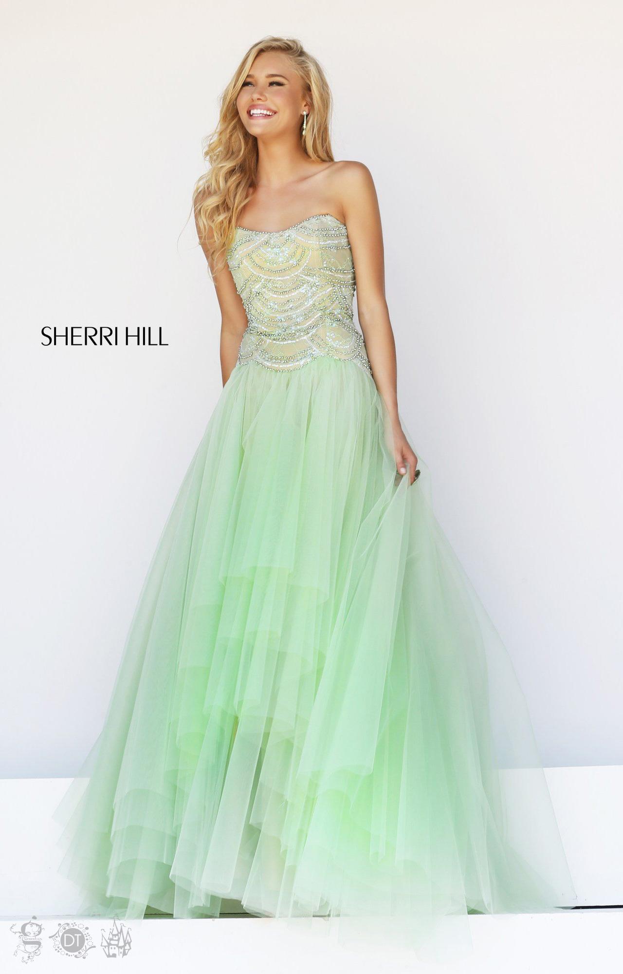 Sherri Hill 11082 Green Prom Dress 2014 [Sherri Hill 11082] - $188.00 : Prom Dresses On Sale,Discover 2014 Dresses For Prom