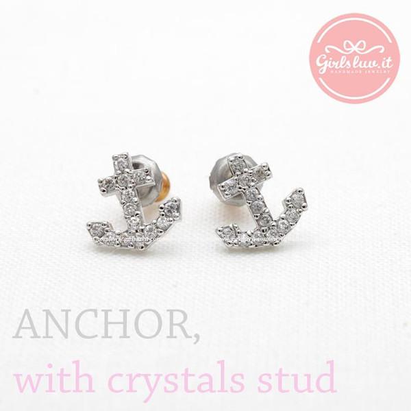 jewels jewelry earrings stud earrings anchor anchor stud earrings anchor earrings summer earrings