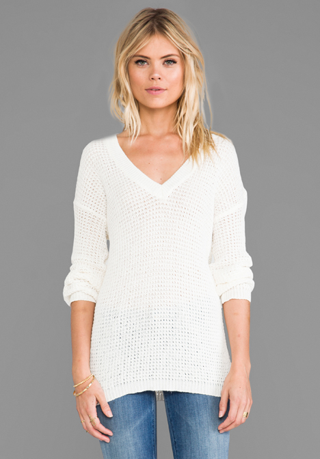 ANINE BING Knitted Sweater in White at Revolve Clothing - Free Shipping!