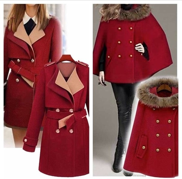 coat red jacket sexy fashion hot