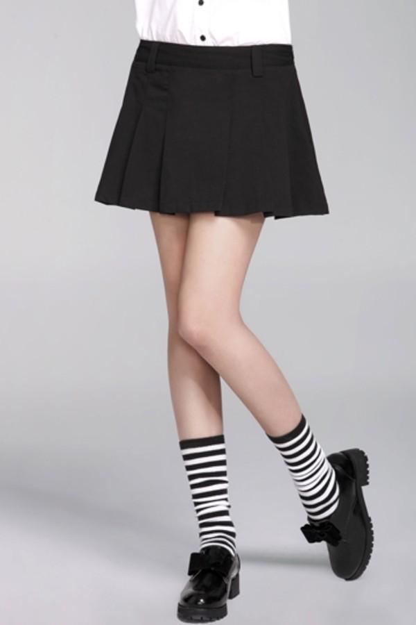 skirt black skirt fashion pretty skirt short skirt