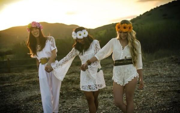 jumpsuit crochet lace festival perfect hippie boho cute