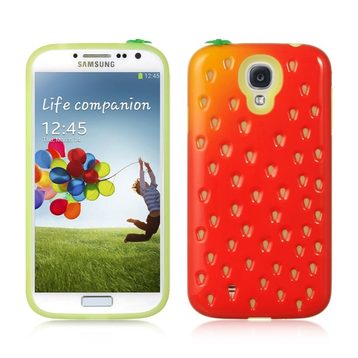 Samsung Galaxy S4 Strawberry Fusion Hybrid Case Plastic and Silicone Phone Case