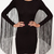New Womens Sexy Back Fringe Tassel Long Sleeve Black Slim Fit Bodycon Dress | eBay
