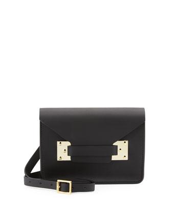 Sophie Hulme Mini Envelope Crossbody Bag, Black