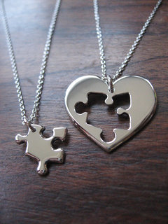 PUZZLE NECKLACE FOR TWO on The Hunt