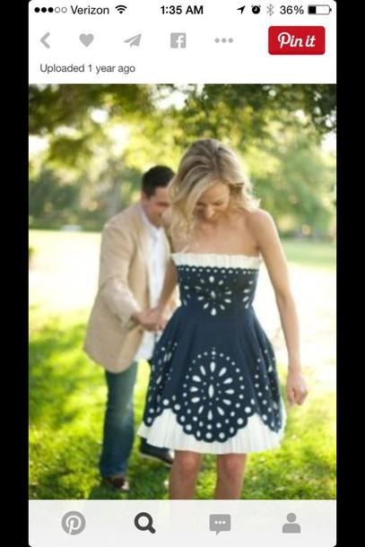 dress navy dress lace dress bridesmaid bridesmaid country dress