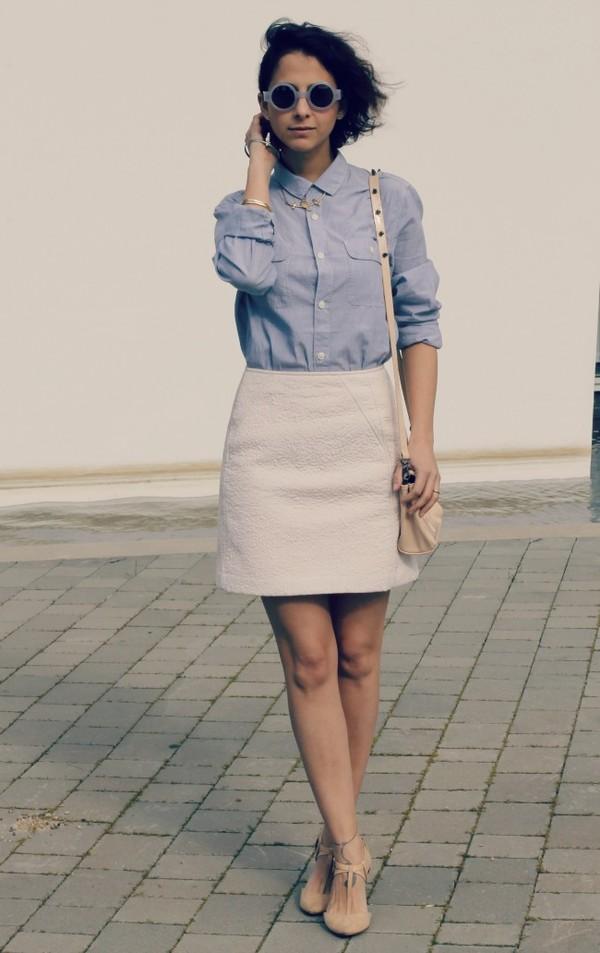 style in lima shirt sunglasses skirt
