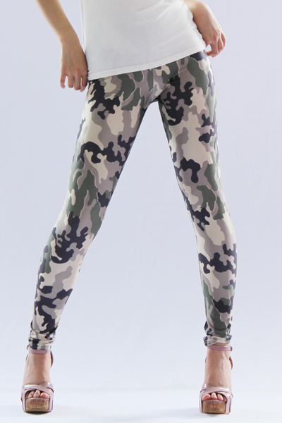 Clothes Women Fashion Lovely Green Camo Slim Army Camouflage Printed  Pants Leggings Trousers Fashion 2013 For Women M XL-in Leggings from Apparel & Accessories on Aliexpress.com