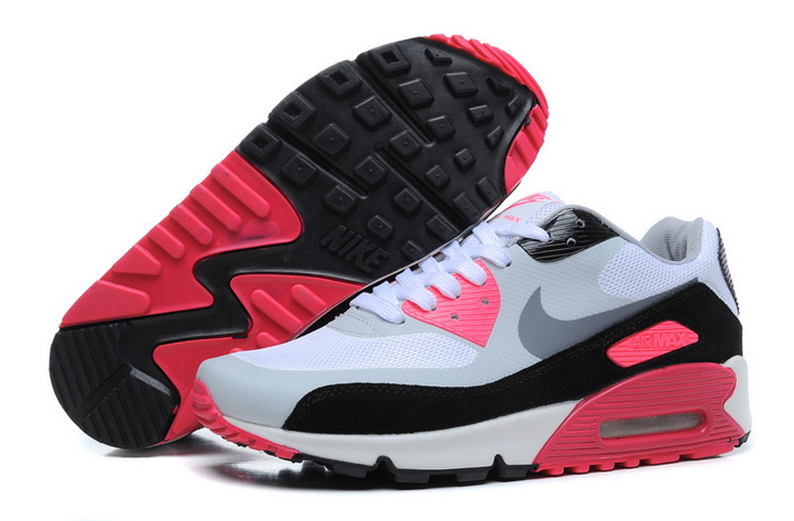 Womens Nike Air Max 90 2013 High Frequency White Red Black Grey