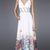 Prachtige grens print jurk met gevlochten empire taille - €382.01