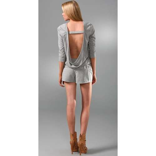 Luxe Fleece Draped Back Romper - Juicy Couture | ThisNext