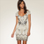 Off-white Mini Dress - Bqueen Apricot Diamante Dress  K153Y | UsTrendy