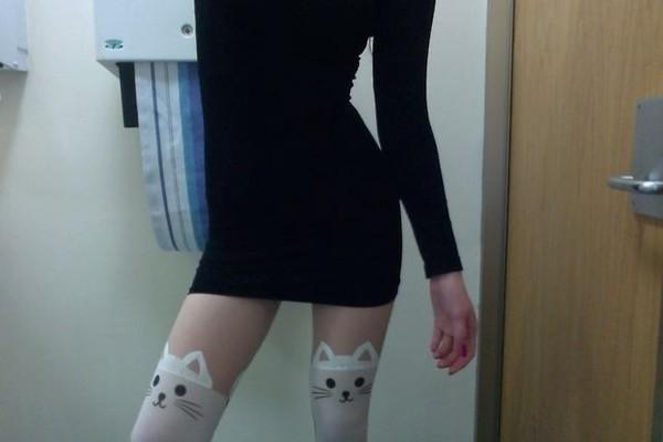 leggings cats tumblr skinny pants