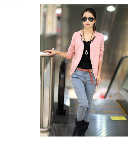 jacket pink jacket very cool styles