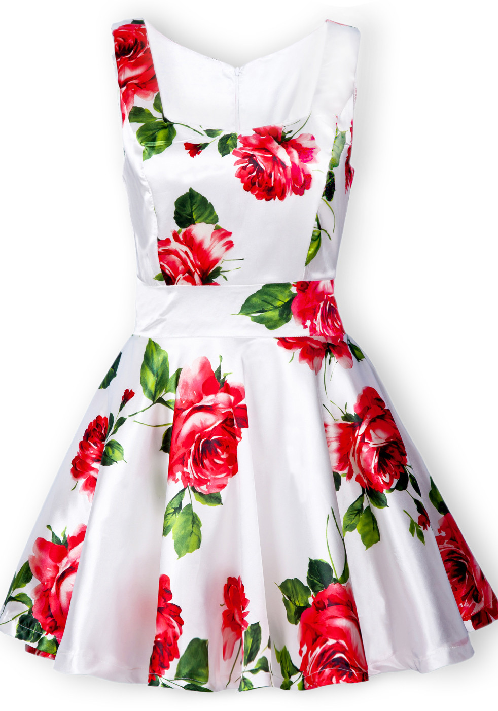 Free Shipping Summer High Quality Fashion Women Hot Sale Casual White Sleeveless Bandeau Floral Tank Cute Dress-in Apparel & Accessories on Aliexpress.com
