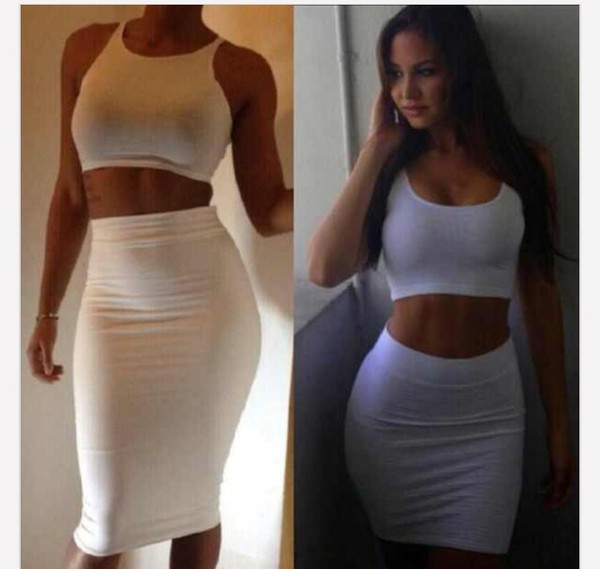 dress two piece body con top