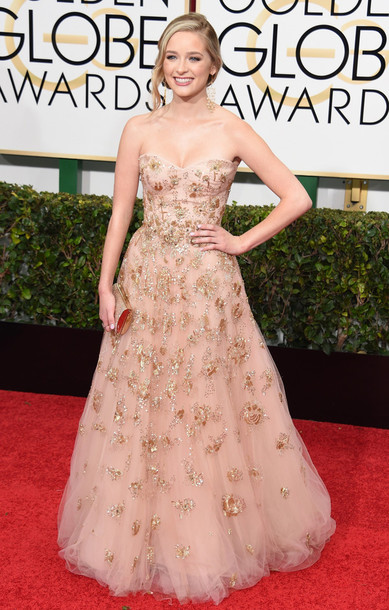dress greer grammer Golden Globes 2015 tulle dress