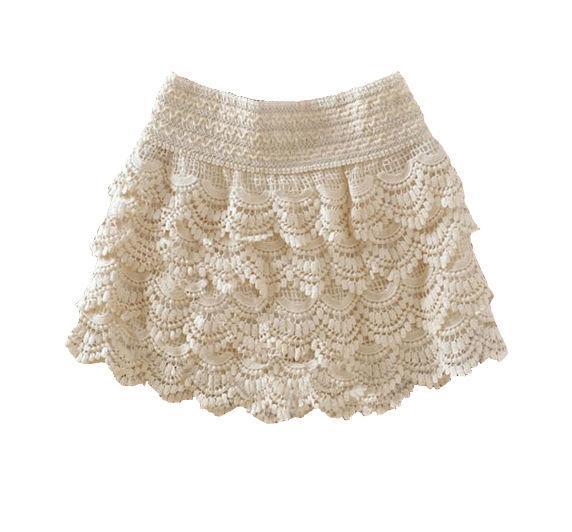 Fashion Women Girl Korean Sweet Cute Crochet Tiered Lace Shorts Skirts Pants HOT | eBay
