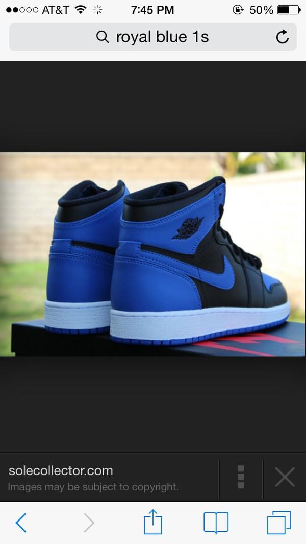 shoes air jordan royal blue black jordan