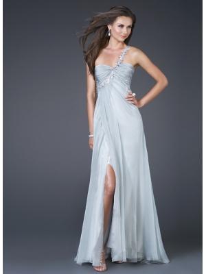 Buy Elegant Chiffon One-shoulder Empire Waistline Evening Dress under 200-SinoAnt.com