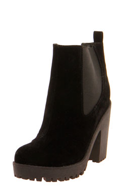 Izzy Suedette Elastic Insert Chunky Pull On Boot at boohoo.com