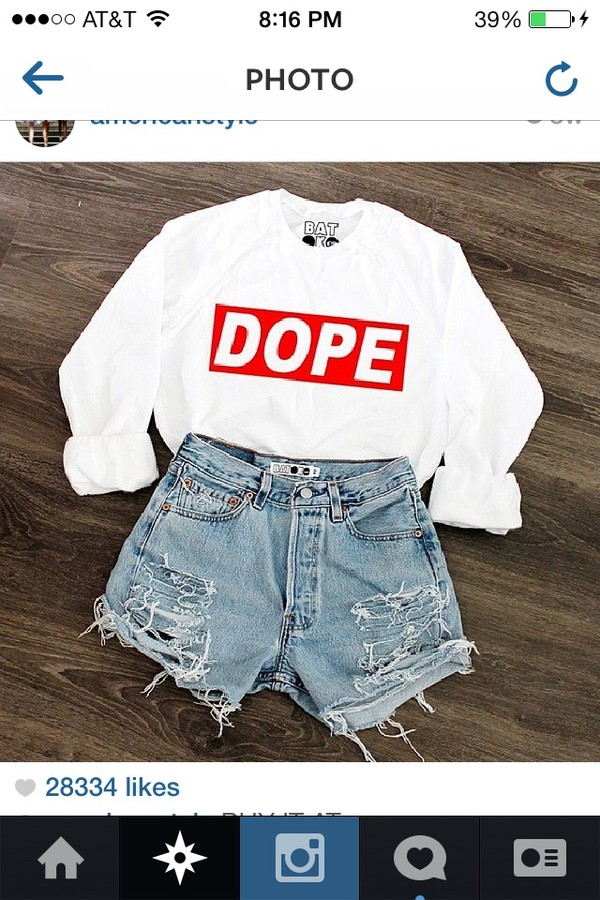 sweater white red cute shorts