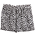 Black White Leopard Belt Shorts - Sheinside.com