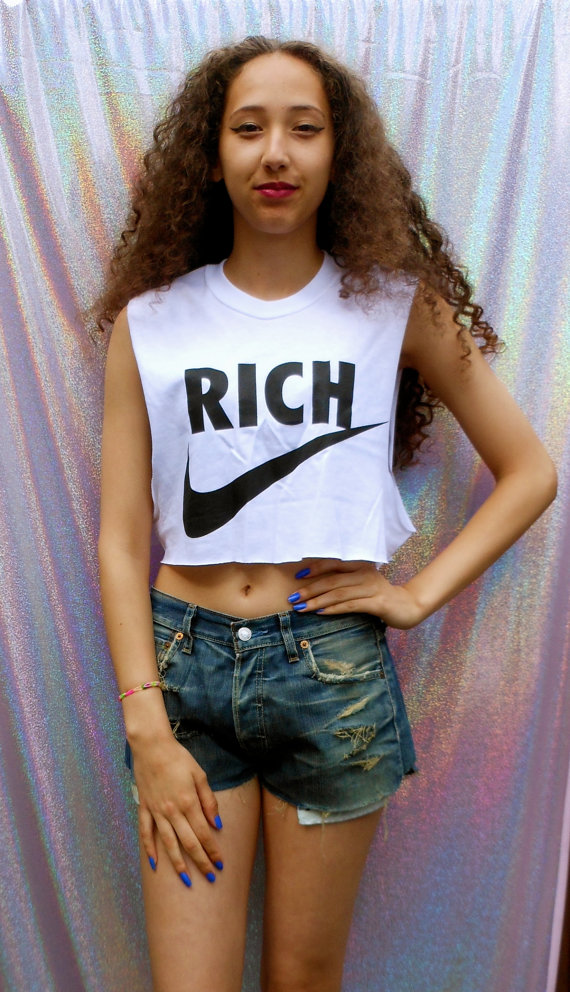 swag style nike rich classic crop top by 0BubblegumBoutique0