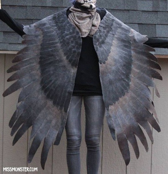 cardigan wings clothes grey