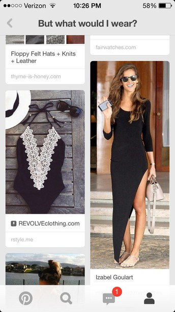 dress long black dress with slitt