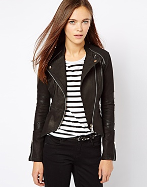 River Island | River Island Leather Jacket at ASOS