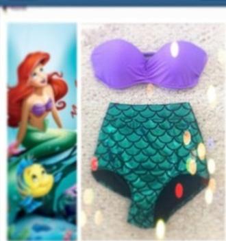 swimwear the little mermaid disney mermaid sunmer summer cute
