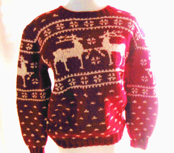 Vintage POLO RALPH LAUREN Reindeer Ski Sweater by VintageAndGems
