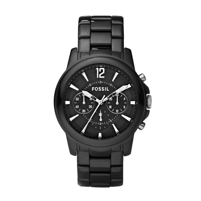 FOSSIL®  : Grant Ceramic Watch - Black CE5008