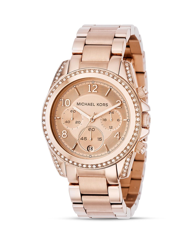 Michael Kors Rose Gold Watch, 39mm | Bloomingdale's