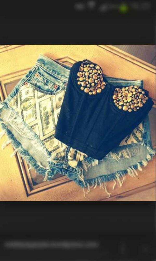 jeans crop tops shorts