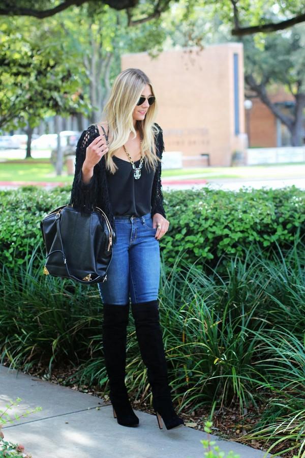 devon rachel jacket tank top jeans shoes bag sunglasses jewels