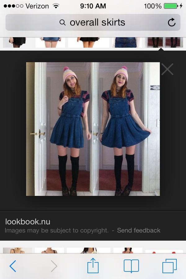 skirt overalls black