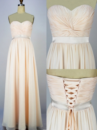 2013 Style A-line Sweetheart Floor-length chiffon Prom Dresses [B0015] - $179.00 : 24inshop