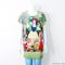 Women's snow white animal cat printed graphic t shirt long top dress s m l   ebay
