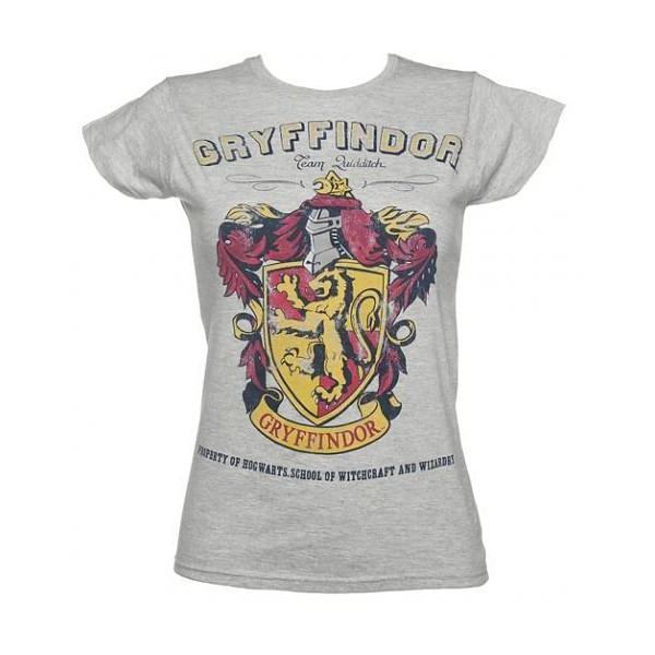 Ladies Grey Harry Potter Gryffindor Team Quidditch T-Shirt - Polyvore