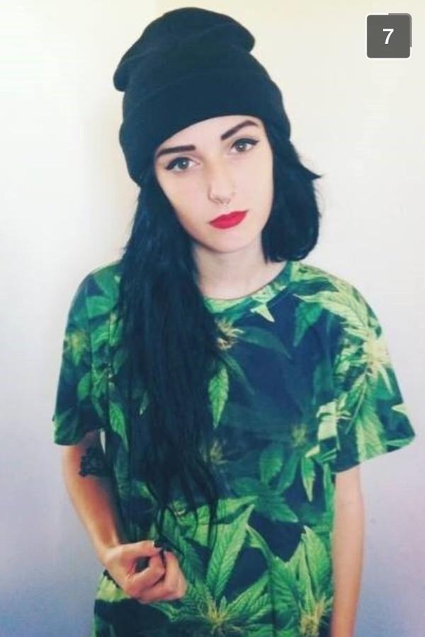 t-shirt shirt green weed weed shirt