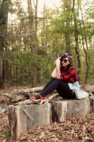 keiko lynn scarf sunglasses shirt shorts jacket shoes bag